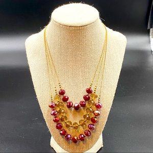 NY & Co Multi-Strand Beaded Necklace